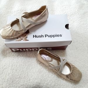 Hush Puppies Brenna Champagne Ballet Flat Shoes